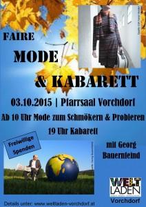 MODEundKabarett Plakat